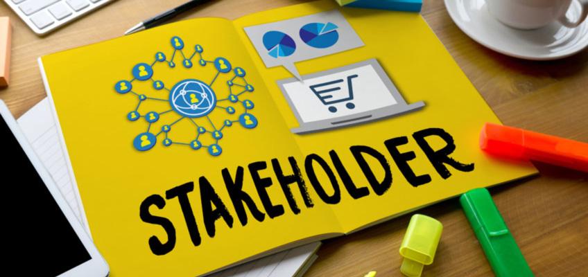 Stakeholder folder on a desk