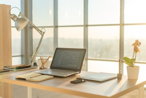 Tidy Modern Desk